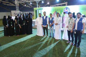 فريق عمل مشكاتي في ملتقى سيرة مجد بجامعة الملك سعود